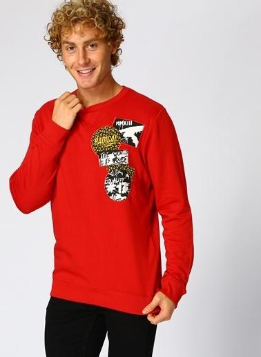 Only & Sons Sweatshirt Kırmızı